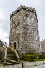 Andrade castle in the town of Vilalba, Lugo