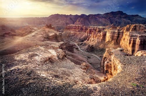 Fotobehang Canyon Charyn canyon in Kazakhstan