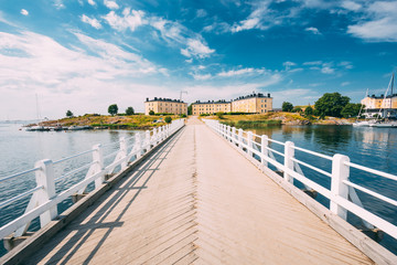 Sea Fortress. Residential Building At Suomenlinna In  Helsinki,