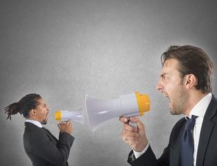 Employee yelling against boss