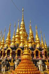 Many tops of pagodas