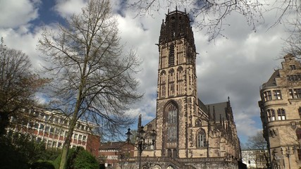 City hall and Salvator church - Duisburg - Germany