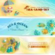 Summer holiday vacation banners set - 82091313