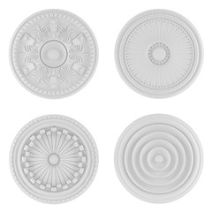 Classical architecture elements. Ceiling plates