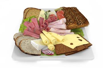 Platter. Plate of snack.