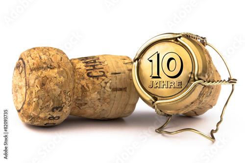 Champagnerkorken 10 Jahre Jubiläum - 82093735