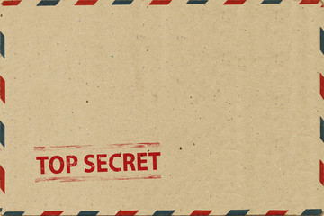 Top secret on Airmail Envelope
