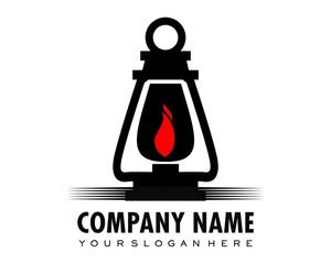 black lantern logo image vector