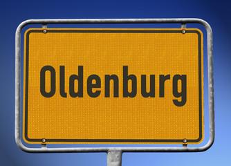 Ortsschild Oldenburg