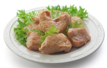 Roasted turkey with fresh lettuce
