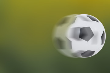 football rolling on green and yellow gradient background