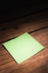 Green post it