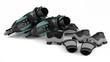 Leinwandbild Motiv Roller skates with equipment isolated