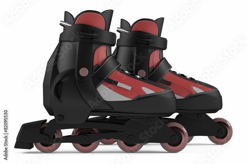 Leinwandbild Motiv Roller skates isolated