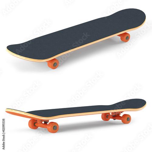 Leinwandbild Motiv Skateboard isolated on white background