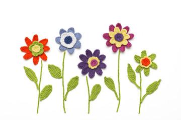 gehäkelte Blumen