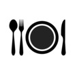 plate fork knife spoon icon - 82096102