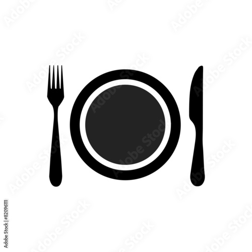 Dish, fork and knife - 82096111
