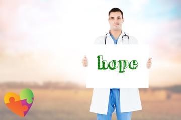Hope against countryside scene