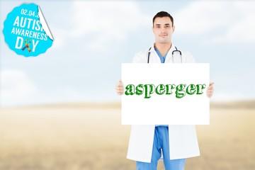 Asperger against bright brown landscape