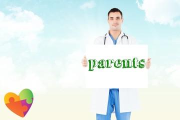 Parents against blue sky