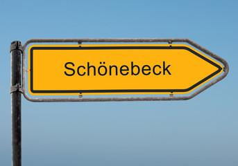 Strassenschild 35 - Schönebeck