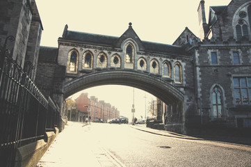 Downtown of Dublin in the morning