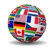 International Business World Flags Globe - 82097319
