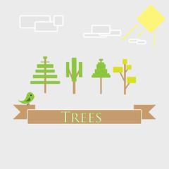 trees minimalism