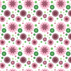 Vector seamless pattern with abstract flowers.Elegant background
