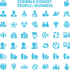 Scribble Iconset People / Business