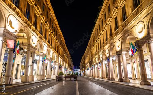 Via Roma, a street in the center of Turin - Italy - 82097702