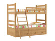 Bunk bed isolated - 82098572