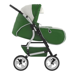 Buggy front. Pram isolated