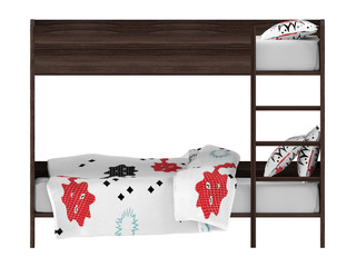 Bunk bed front isolated