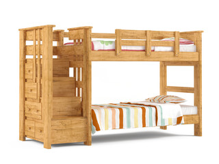 Bunk bed isolated