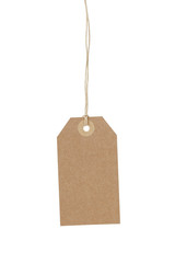simple tag or label from craft paper isolated