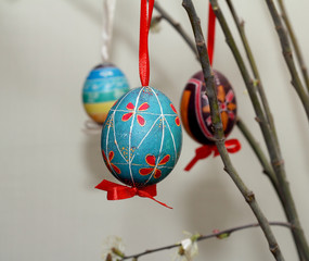 Easter tree with Easter eggs