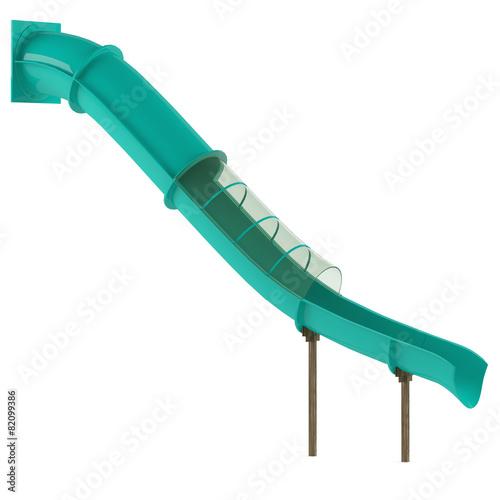 canvas print picture Aquapark slide tube isolated