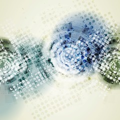 Grunge geometric technology background