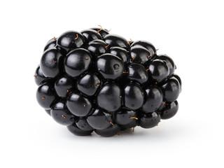 fresh blackberry berry isolated on white