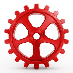 Isolated red gear