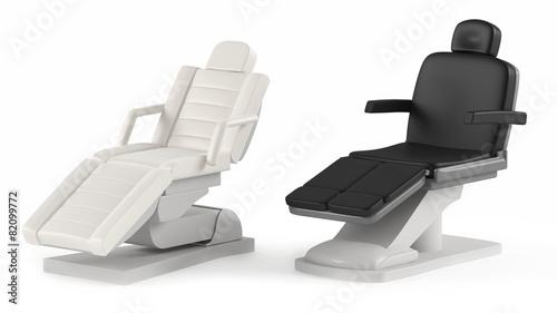 Leinwanddruck Bild Cosmetic chair spa isolated