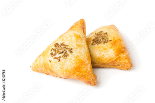 Papiers peints Biscuit Samsa is baked pastry with meat filling