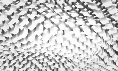 Diigital background with chaotic square pattern