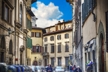 glimpse of a street in Florence