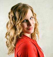 attraktive blond Woman