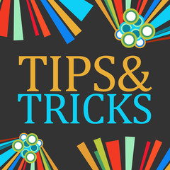 Tips And Tricks Black Colorful Elements