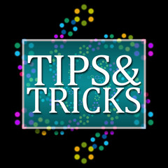 Tips And Tricks Black Colorful Neon