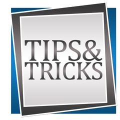 Tips And Tricks Blue Grey Block